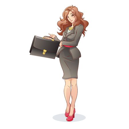coworker: Beautiful Business Woman