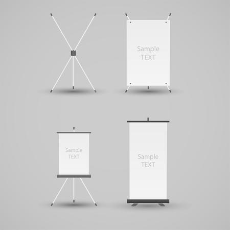 banner stand: Banner Stand Vector Illustration