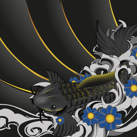 Vector koi fish background