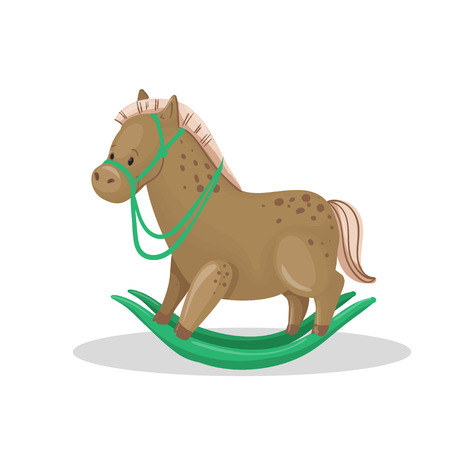 wooden toy: Wooden Toy Horse Vector
