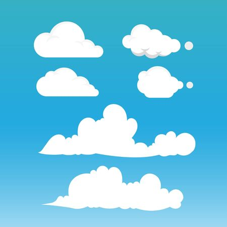 fluffy clouds: Clouds Vector Illustration