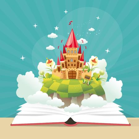 Imagination book Concept Illustration