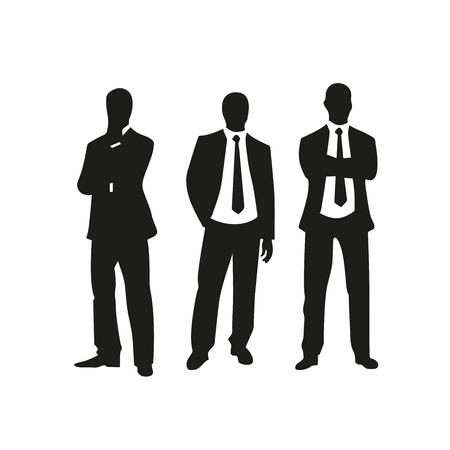 alkalmasság: sziluettek üzleti csapat Illusztráció