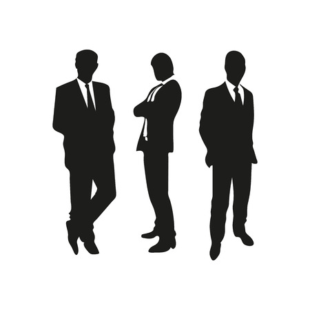 silhouettes of business team