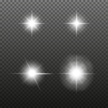 Set of Glowing Light Ilustrace