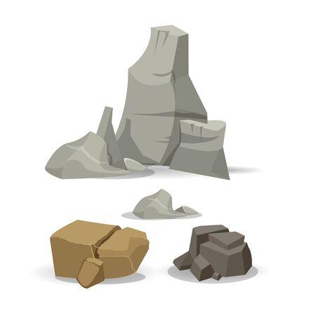 Stone pile vector Illustration