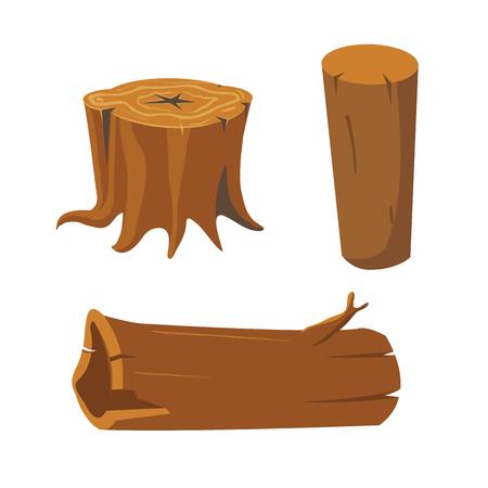 Cutting wood elements Illustration
