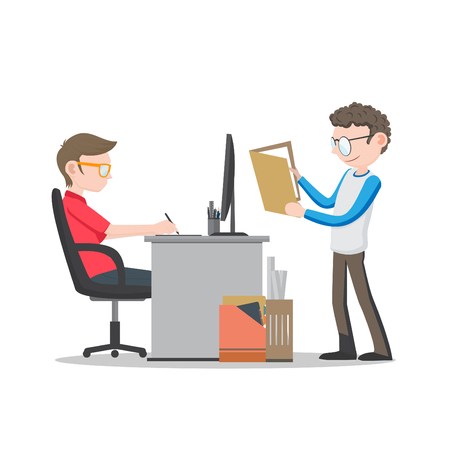 Office Workers on Desk