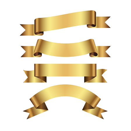 Gold Ribbon Vector Illustration