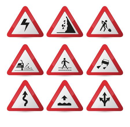 Road sign Vector illustration Illustration