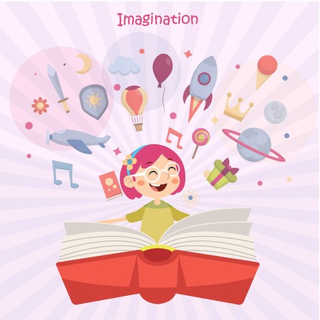 Kids Imagination concept