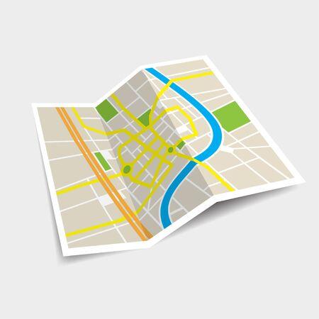 Map vector illustration