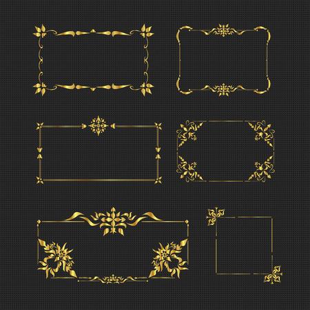 Vintage Golden Frame Stock Vector - 93681796