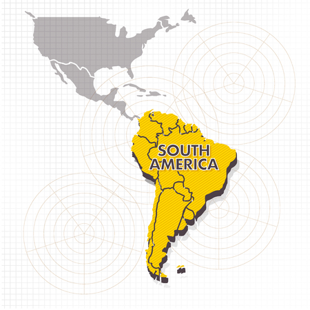 South america continent icon illustration on white background.