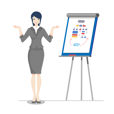 Woman at business presentation