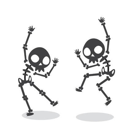 Funny Dancing Skeleton. 矢量图像