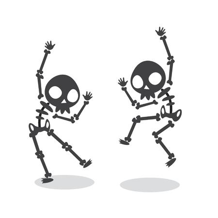 Lustiges Tanzen Skelett Standard-Bild - 93681347