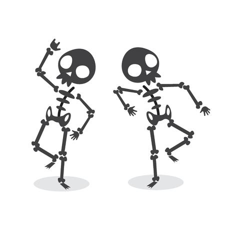 Funny Dancing Skeleton. Vettoriali