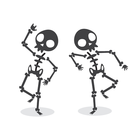 Funny Dancing Skeleton. Illustration