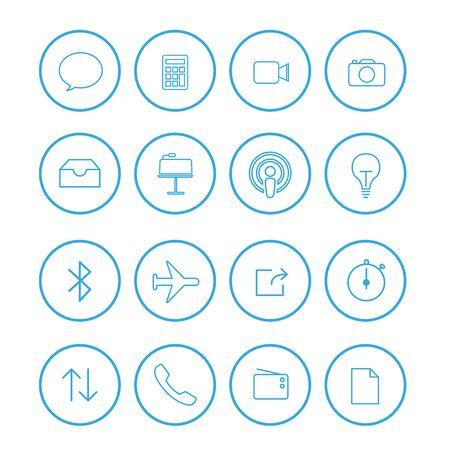 Set of user interface symbols