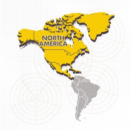 North America Continent Illustration