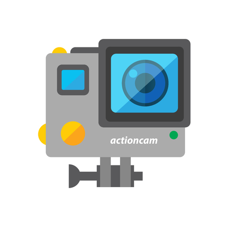 Action Cam Vector Object Illustration