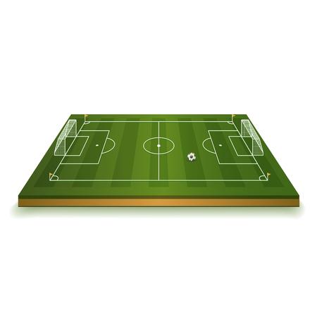 Soccer Field Vector Illustration Standard-Bild - 106203001