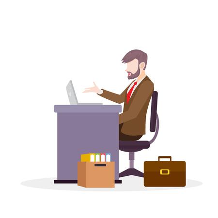 Businessman Vector Illustration Çizim