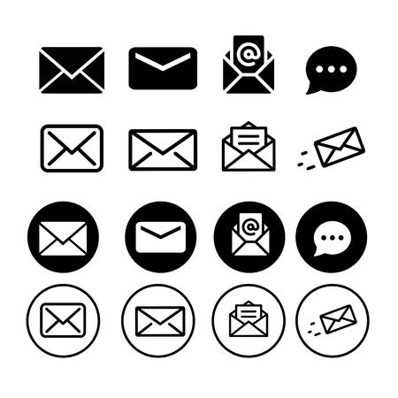 Message Icon Set Illustration
