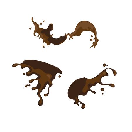 Puddle mud vector cartoon