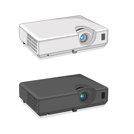 Projector Vector Icon detailed