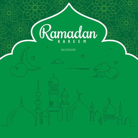 beautiful ramadan kareem greeting card design