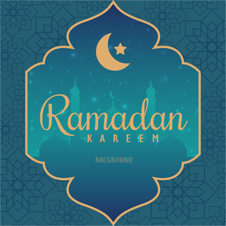 beautiful ramadan kareem greeting card design