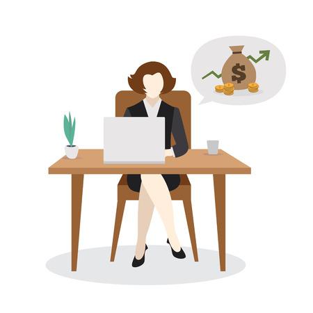 Business Woman Vector Illustration