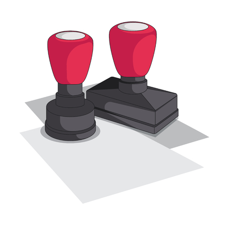 Document Stamp Vector Icon Reklamní fotografie - 106202303
