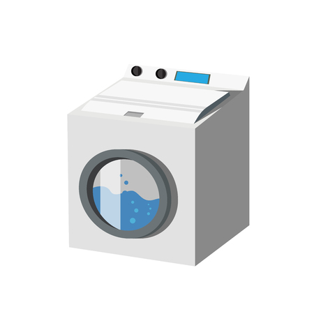 washing machine and laundry Vector Icon