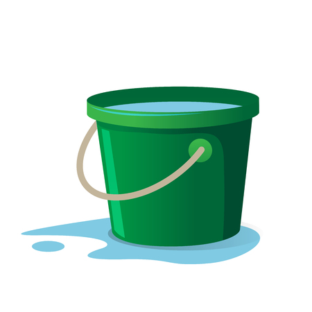 Ilustración de vector de cubo de agua
