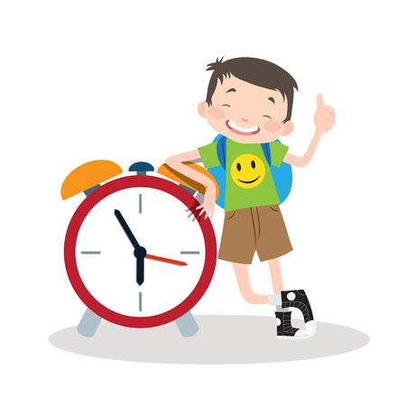 School Boy Vector Illustration