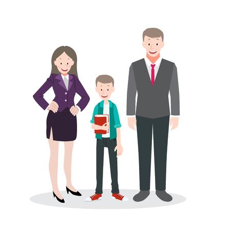 Happy Family Life Vector