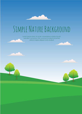 Simple Nature Background Vector Illustration