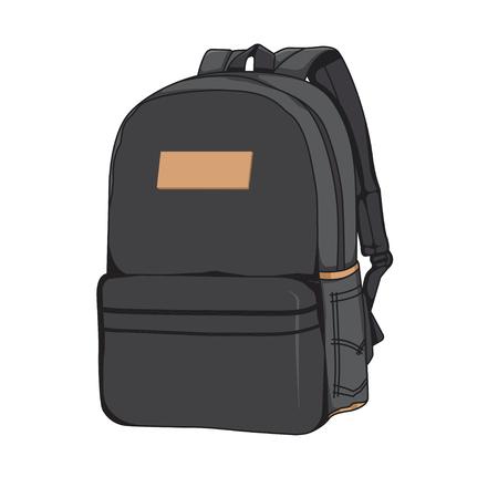 Black Backpack Vector