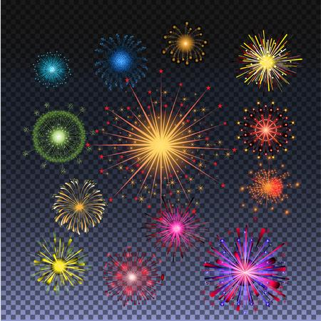 Firework patterned bursting vector illustration