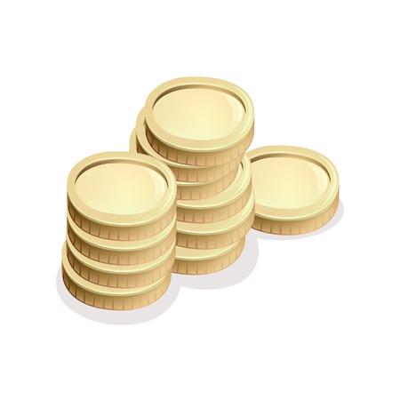 gold and silver coins vector Ilustração