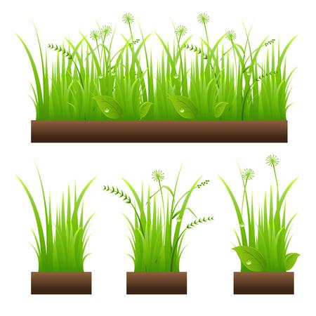 Grass seamless pattern Stock Illustratie