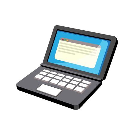 Laptop isometric icon design