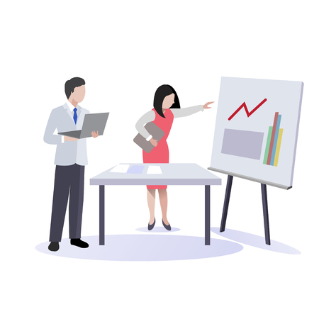 Business Meeting and Presentation Vector