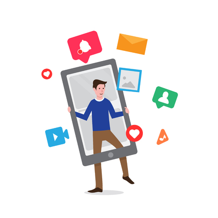 social media networks vector Ilustração
