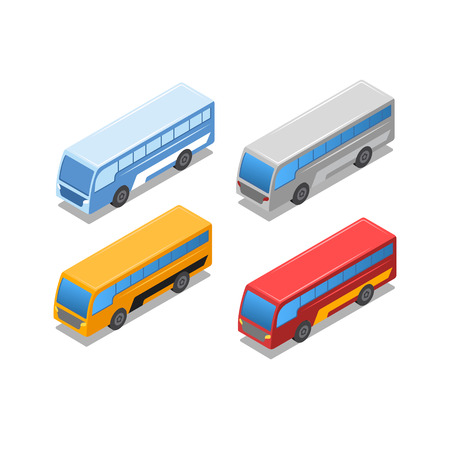 Isometric City public bus Double Decker Bus Imagens - 123157730