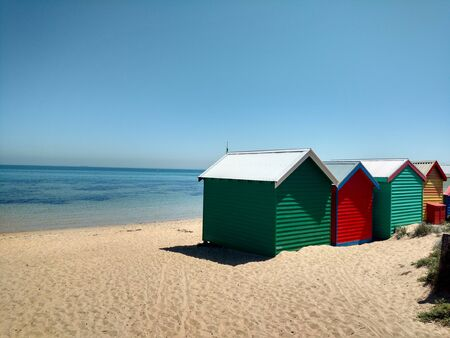 beach huts: Beach Huts at Brighton Beach, Victoria Stock Photo