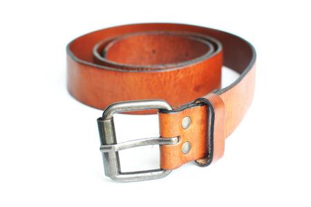 chrome man: Brown belt in white background